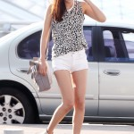 Hong Soo-Hyun Wears Manas Boots at Airport