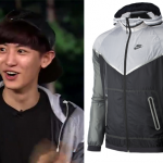 Roommate Episode 12: Chanyeol's White, Gray and Black Nike Jacket