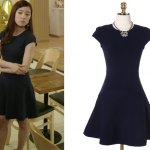 Trot Lovers Episode 9: Park Soo-In's Navy Fit and Flare Dress