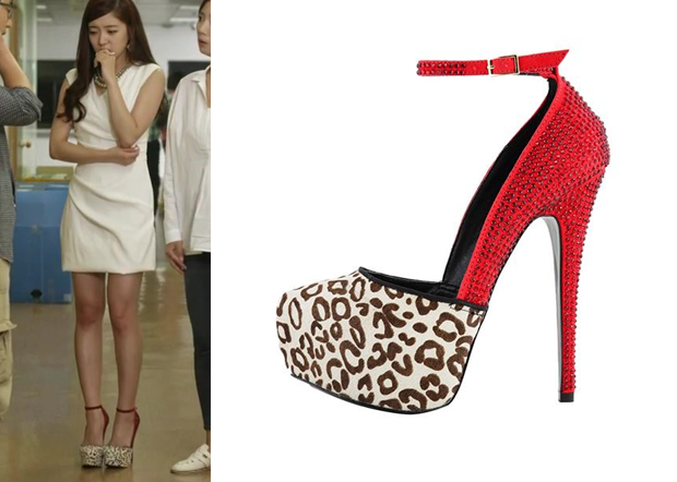 d8c661e178a Trot Lovers Episode 10  Park Soo-In s Red Leopard Print Platform ...