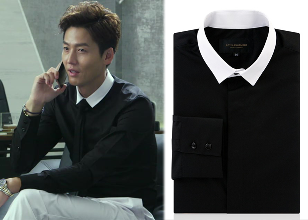 Temptation Episode 10: Kang Min-Woo's Black Shirt with White ...