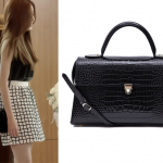 1st Rumor Tote Baguette Croc Black Bag