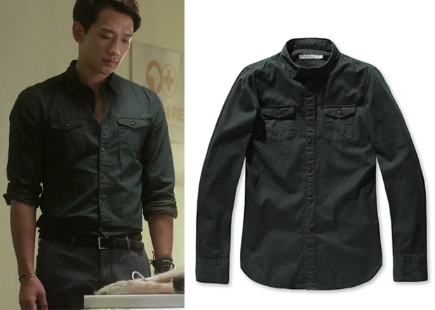 17cea607dc0 She s So Lovable Episode 1  Lee Hyun-Wook s Black Button-Up Shirt ...