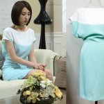 Temptation Episode 11: Na Hong-Joo's Mint Colorblock Dress