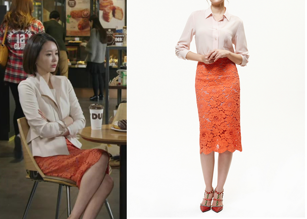 Birth of a Beauty Episode 4: Gyo Chae-Yeon's Orange Lace Pencil ...