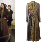 Tak Ye Jin's Saint Laurent 'Bohéme' crepe dress