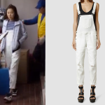 AllSaints White Dungarees