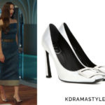 Krystal's Silver Heels - Roger Vivier Decollete Belle Vivier Trompette Metallic Leather Pumps