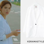Yoon So Ah's White Linen Jacket - 8 Seconds White Linen One Button Single Jacket 117111W131