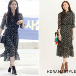 Yoona Wears H.Connect Floral Dress at Airport