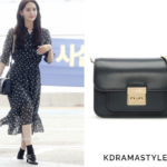 Yoona Carries Navy Michael Kors Bag at Airport