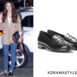 Krystal Wears Black Loafers at Wrap Up Party for Bride of the Water God - Tod's Leather Loafers in Black