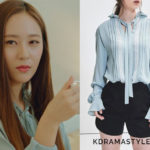 Krystal's Light Blue Blouse - Blanc & Eclare Edward Blouse