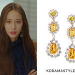 Krystal's Yellow Drop Earrings - Jewel County Yellow Triple Drop Earrings