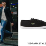 Kang Chul's Black Sneakers - Lacoste Marcel LCR2 Sneakers SLCM1611073-02H