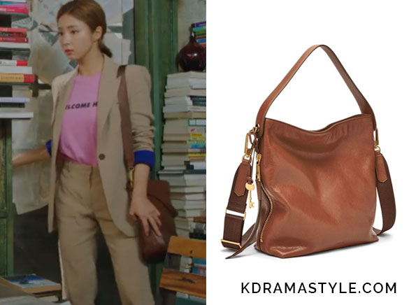 Yoon So Ah's Brown Bag - Fossil Maya Small Hobo Bag in Brown