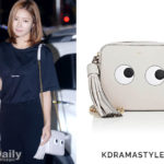 "Shin Se Kyung Carries Eyes Shoulder Bag at Wrap Up Party for Bride of the Water God - Anya Hindmarch ""Eyes"" Crossbody Bag"