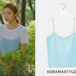Yoon So Ah's Light Blue Tank Top - Recto 16FW Silk Camisole