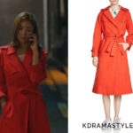 Yoon So Ah's Red Trench Coat - Maje Goldie Trench Coat