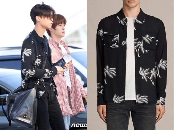 170901 Nct Johnny Wears Allsaints Shirt At Incheon Airport