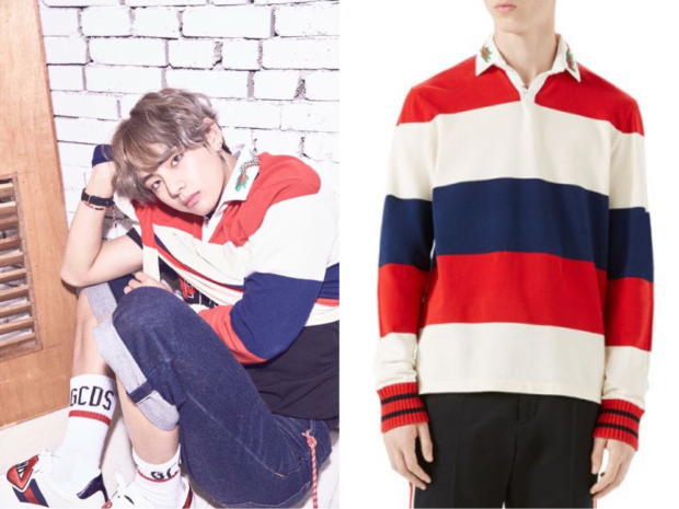 Bts Love Yourself Her V Wears Gucci Long Sleeve Tee