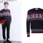 170914 Gray Wears MSGM Sweater at Delvaux Event
