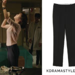 Song Eun-Jae's Black Pants - Frontrow [Drama Collection] New Slim Straight Trousers in black