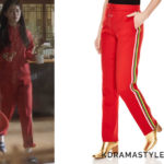 Suzy's Red Track Pants - Sandro Marley Track Pants